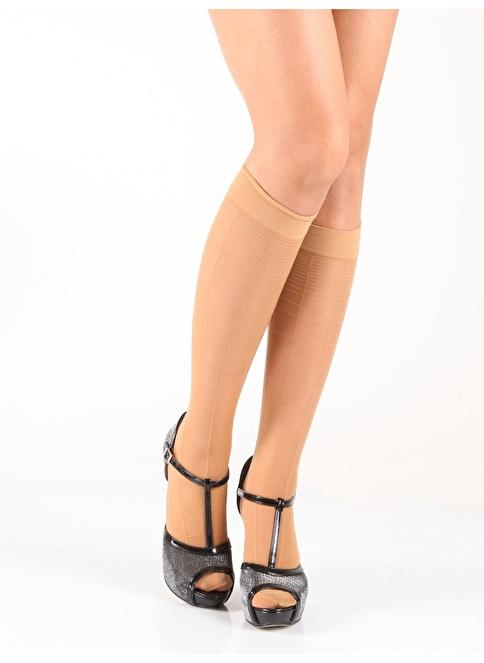 Pierre Cardin 2'Li Desenli Dizaltı Çorap Ten